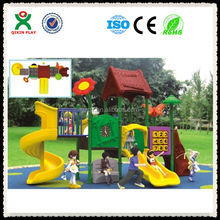 Guangzhou leadging manufacturer daycare outdoor toys, playground equipment outdoor, children slides for sale QX-033A
