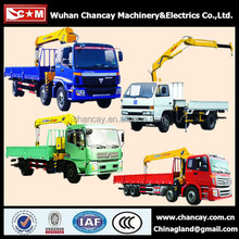 Construction machinery SQ10SK3Q 10 ton knuckle boom truck mounted crane unic truck mounted crane