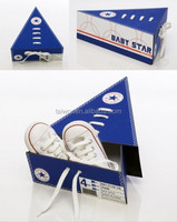 Taiwor Customized Design Triangle Paper Packaging Shoe Box with Shoelace Decorated