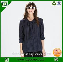 Regalo de navidad de moda blusa de gasa abierto estilos de camisa de gasa- estilo- blusa