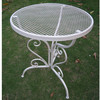 2015 hot selling vintage white mesh metal outdoor furniture
