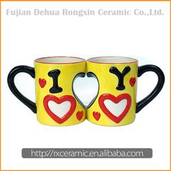 I love you design new advertising ceramic mug with heart logo