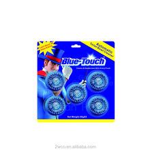 toilet cleaner Blue color indicator super deodorizing toilet rim block with Pine fragrance 50g*5