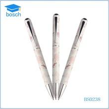 Lovely gift for girls metal ball pen popular ballpoint pen
