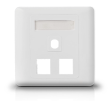 three port 86 type White Color 86 X 86mm network face plate for RJ45 cat5e/cat6 electrical outlet