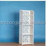Updated special mdf wooden slat floating wall shelf