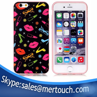 IMD print phone case for iphone 6s sexy kiss me design Soft TPU silicone back cover