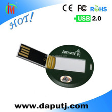 round blank credit card usb pen drives usb stick