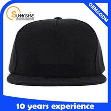 cheap wholesale black blank plain for men sanpabck hats without logo design your own snapback caps