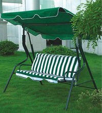 Outdoor patio swing with three seat /outdoor garden swing