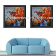 Hotel Decoration Women Dancer Painting with Frame