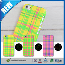 C&T Grid pattern luminous cute animal pc hard case for iphone 6/6s good quality low price