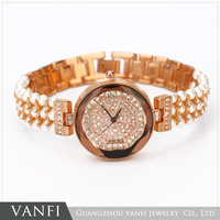 ladies pearl bracelet watch promotional wrist watch
