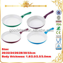 Popular Pressing Aluminum Ceramic Cookware Fry Pan With Many Color MSF-L6182