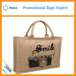 Top Quality Cheap Promotional logo printed Jute shopping bag