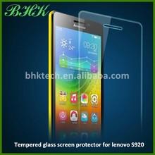 nano liquid transparent tempered glass screen protector for lenovo S920 , high quality screen protector