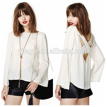 la nueva marca de ropa de mujer suelto blanco y blusa de gasa