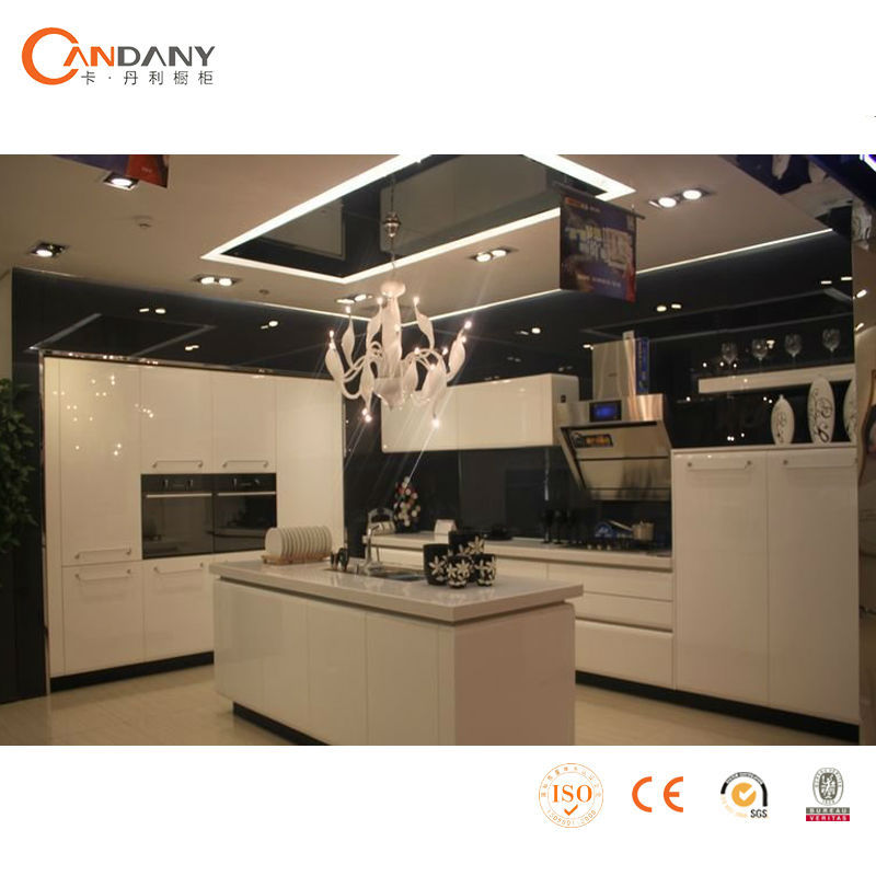 foshan usine fournir armoires de cuisine moderne en verre d poli portes d 39 armoires de cuisine. Black Bedroom Furniture Sets. Home Design Ideas