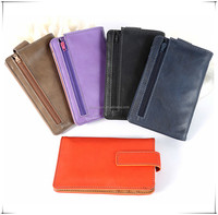 Luxury design pu leather universal case for 5.5 inch wallet phone case