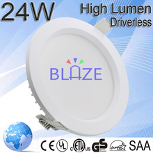Hight Quality Products AC direct no need driver led 24w downlight nature white