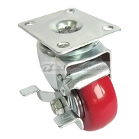 2.5 inch general duty casters wheel with brake
