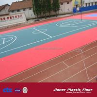 outdoor basketball court plastic sports floor