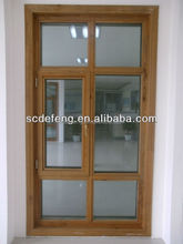 European Type Aluminum Cladding Wood Window