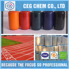 Plastic runway construction need color thick liquid to blend for color