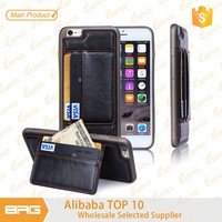 BRG Multifuction Ultra Slim Wallet Leather+TPU Case for iPhone 6 Plus with Credit Card Slot Stand, for iPhone 6plus cover