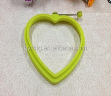 Food grade silicone heart shaped fired egg mold