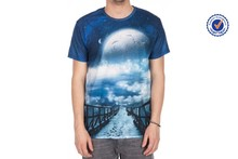 Breathable sublimation t-shirt for men polyester sublimation t-shirt