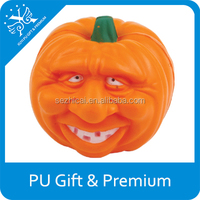 Cheap Promotional Pumpkin Faces Pu Jack-O-Lantern Foam Ball