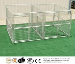 galvanized dog run/double dog kennel