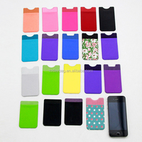 2015 Hottest Sell Scratch Stick-On Wallet functioning Adhesive smart wallet phone Case