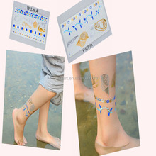 Gold, silver,black,blue color temporary jewel tattoo sticker(in stock)