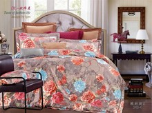 discount now!stock queen and king size 4pc reversible jacquard bedding set