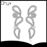 Wholesale long sterling silver ear studs with butterfly wings design
