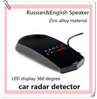 2015 Zinc alloy material car accessories Russian&English speaker Anti police Radar detector for Speed Limited alarme de carro