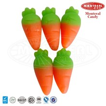 Chewy carrot shape gummy candy for sale