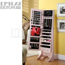 Promotion price Pink Jewelry Armoire with Mirror