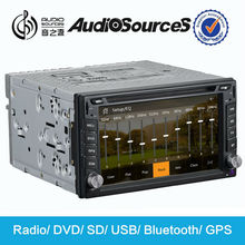 full hd media player recorder car dvd for Universal car with GPS navigation system built radio SD USB cable