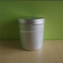 Best price aluminum container with screw lid/aluminum canister and cap
