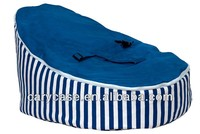 Blue strip carnival with blue seat baby beanbags chair, child Todler Bean Bag Kid Pod Seat Bean Bag, Nursery Snuggle Bed