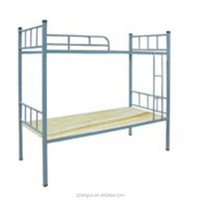 modern school furniture bend iron pipe bunk student bed