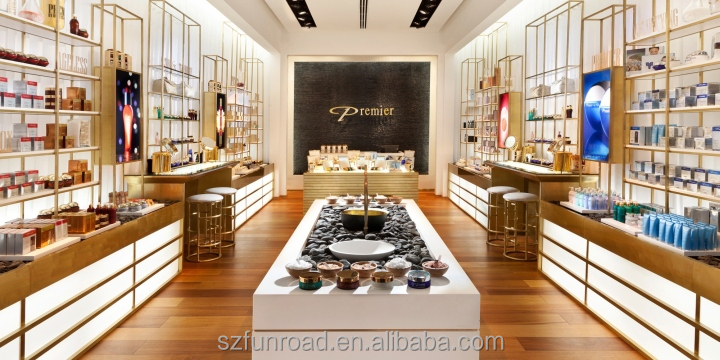 High End Brand Cosmetic Display Vitrine Cosmetic Furniture