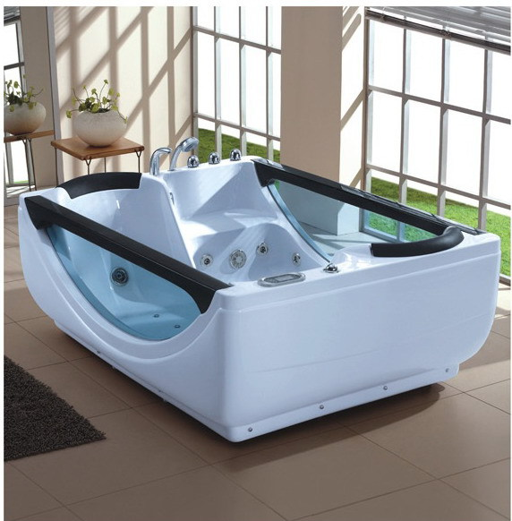 Smt018 1800 1300mm free standing cheap double whirlpool for Cheap free standing tubs