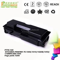 Compatible Black Toner for use in KYOCERA PRINTER FS-1000/1010/1020D/1050/118MFP/KM-1500(PTTK-100)