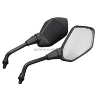 High quality 1 Pair Black Adjustable ABS plastic+aluminum Motorcycle Rearview Mirror Scooter Parts for Kawasaki Z1000