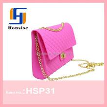 2015 Metal Accessories Fashion Silicone Shoulder Bag