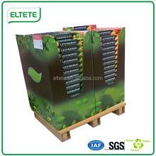 Forklift trolley display paper pallet